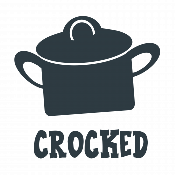 CROCKED FUNNY DRINK LABEL by Funky Frog Creative Designs